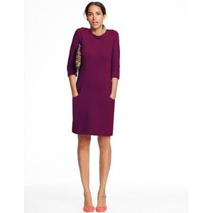 Boden Fuchsia Ribbed Ottoman Shift Dress